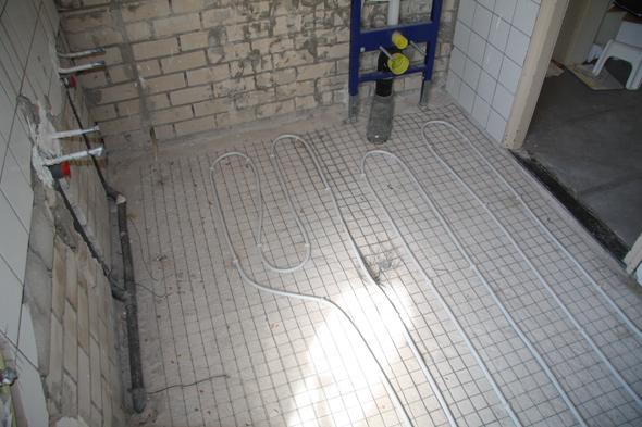 Vloerverwarming Badkamer Retourleiding : Badkamer vloerverwarming op cv badkamer verwarmen wat is de beste